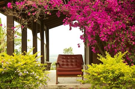 Cadeira na varanda
