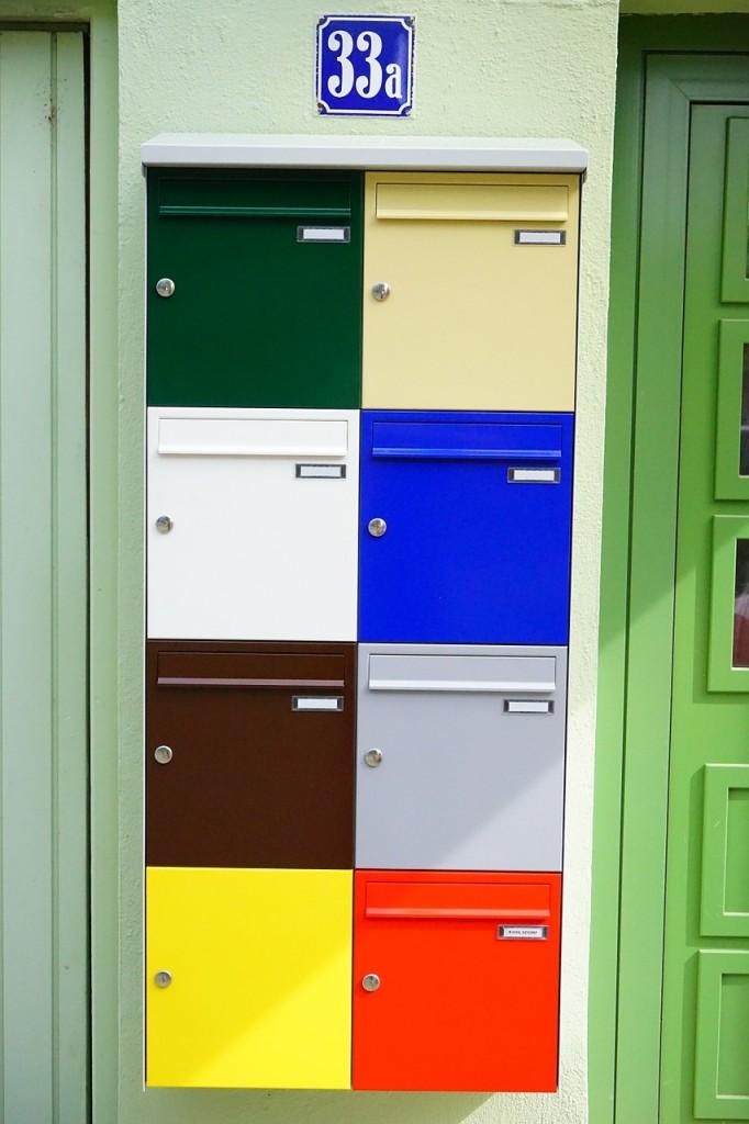 skrzynka na listy, kolory, mieszkania